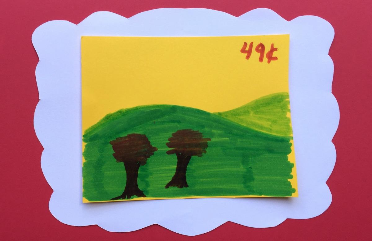kids' stamp craft