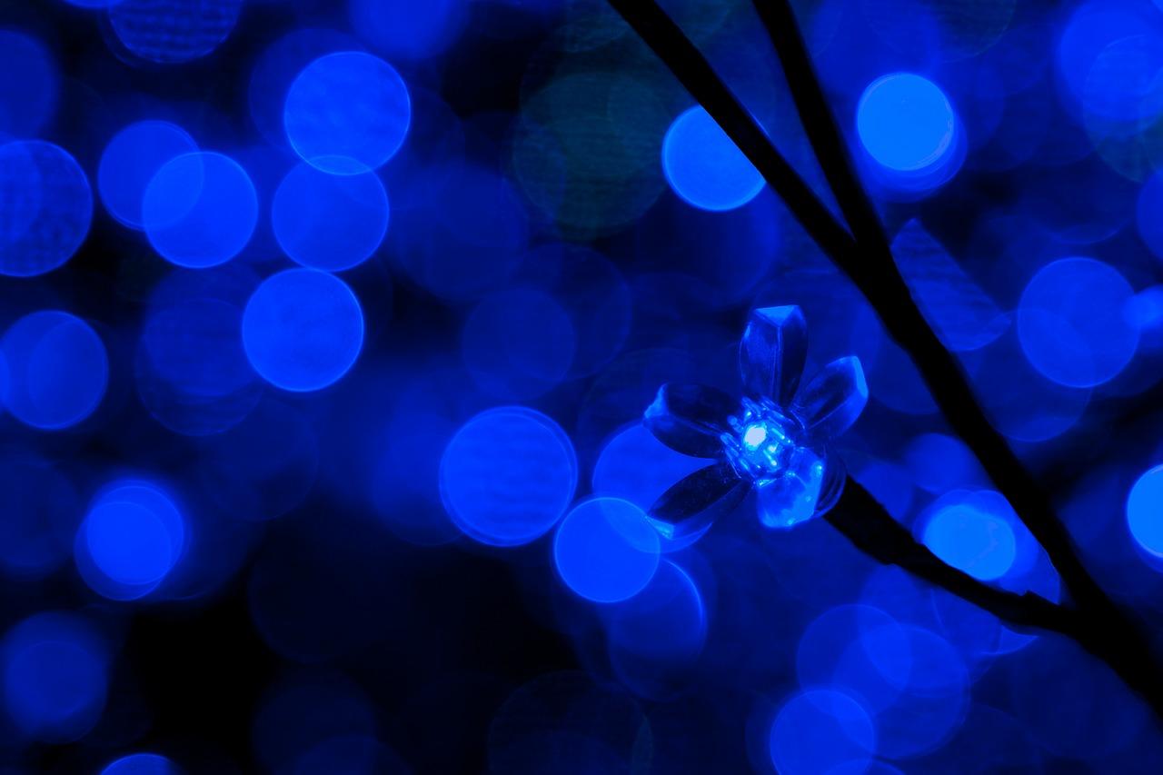 blue lightbulb