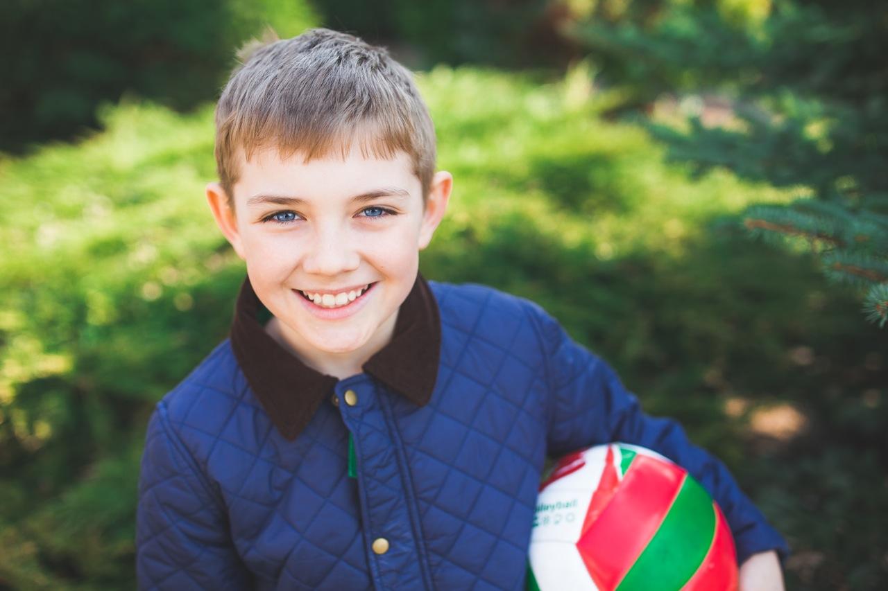 Boy wearing blue